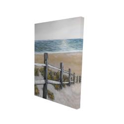 Canvas 24 x 36 - 3D - Soft seaside