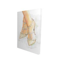 Canvas 24 x 36 - 3D - Studded high heels