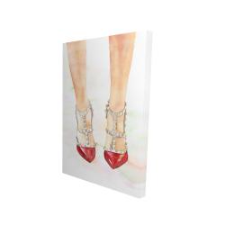 Canvas 24 x 36 - 3D - Red studded high heels