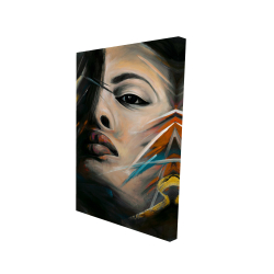 Canvas 24 x 36 - 3D - Abstract woman portrait