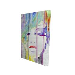 Canvas 24 x 36 - 3D - Abstract colorful portrait