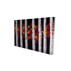 Canvas 24 x 36 - 3D - Trees and fall leaves