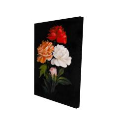 Canvas 24 x 36 - 3D - Three beautiful rose flowers