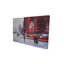 Canvas 24 x 36 - 3D - Black and red street scene