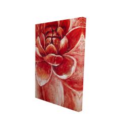 Canvas 24 x 36 - 3D - Red chrysanthemum