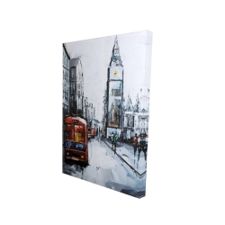 Toile 24 x 36 - 3D - Times square abstraite