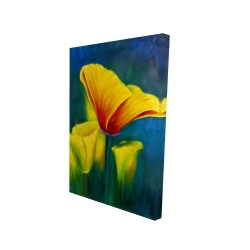 Canvas 24 x 36 - 3D - Beautiful colorful flowers