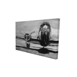 Canvas 24 x 36 - 3D - Grayscale plane