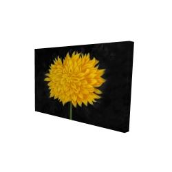 Canvas 24 x 36 - 3D - Yellow chrysanthemum