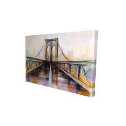 Canvas 24 x 36 - 3D - Colorful brooklyn bridge