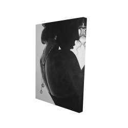 Canvas 24 x 36 - 3D - Chic woman with jewels