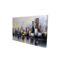 Canvas 24 x 36 - 3D - Abstract city in the morning