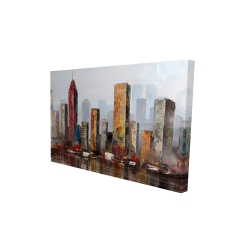 Canvas 24 x 36 - 3D - Rust looking city