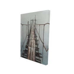 Canvas 24 x 36 - 3D - Old abandoned bridge