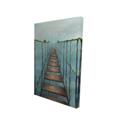 Canvas 24 x 36 - 3D - Old and dangerous bridge