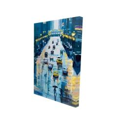 Canvas 24 x 36 - 3D - Rainy streets of new york