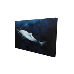 Canvas 24 x 36 - 3D - Swimming dolphin