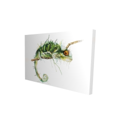 Canvas 24 x 36 - 3D - Chameleon on the lookout