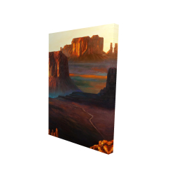 Canvas 24 x 36 - 3D - Monument valley tribal park in arizona
