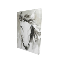 Canvas 24 x 36 - 3D - Beautiful abstract horse