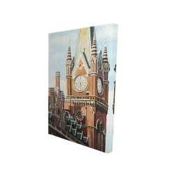 Canvas 24 x 36 - 3D - St-pancras station in london