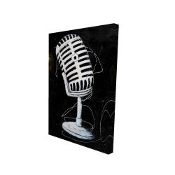 Canvas 24 x 36 - 3D - Microphone