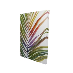 Canvas 24 x 36 - 3D - Watercolor tropical palm leave