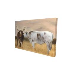 Canvas 24 x 36 - 3D - Nguni herd