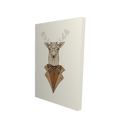 Canvas 24 x 36 - 3D -  deer with brown coat