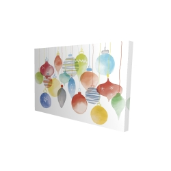 Canvas 24 x 36 - 3D - Christmas' balls