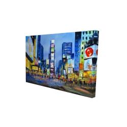 Canvas 24 x 36 - 3D - Cityscape in times square