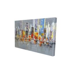 Canvas 24 x 36 - 3D - Color splash cityscape