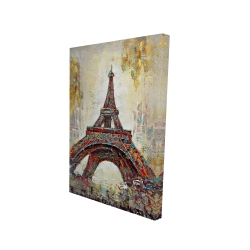 Canvas 24 x 36 - 3D - Abstract eiffel tower