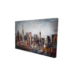 Canvas 24 x 36 - 3D - Dark cityscape