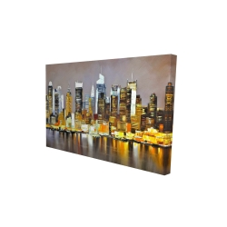 Toile 24 x 36 - 3D - Gratte-ciel texturés de nuit
