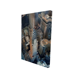 Canvas 24 x 36 - 3D - Chrysler building at nyc