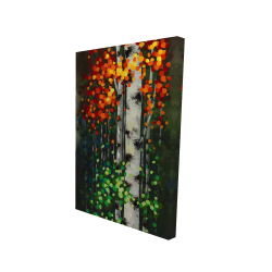 Canvas 24 x 36 - 3D - Bicolored leaf birch 1