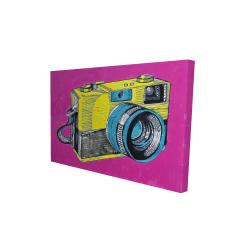 Toile 24 x 36 - 3D - Appareil photo rétro coloré