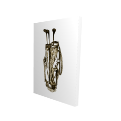 Canvas 24 x 36 - 3D -  illustration of a golf bag