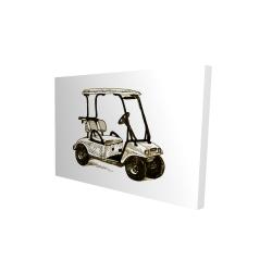 Canvas 24 x 36 - 3D - Illustration of a golf cart
