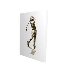 Canvas 24 x 36 - 3D - Illustration of a golfer