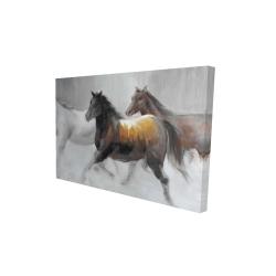 Canvas 24 x 36 - 3D - Herd of wild horses