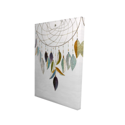 Canvas 24 x 36 - 3D - Dreamcatcher with feathers