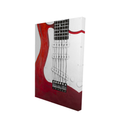 Canvas 24 x 36 - 3D - Red electric guitar