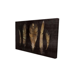 Canvas 24 x 36 - 3D - Brown feather set