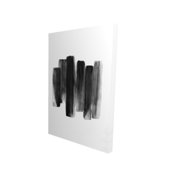 Canvas 24 x 36 - 3D - Black shapes
