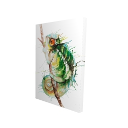 Canvas 24 x 36 - 3D - Watercolor chameleon