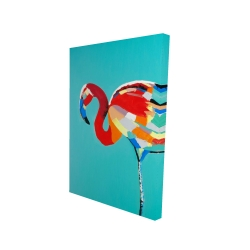 Canvas 24 x 36 - 3D - Abstract flamingo