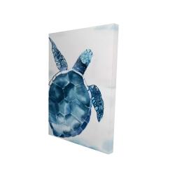 Canvas 24 x 36 - 3D - Blue turtle