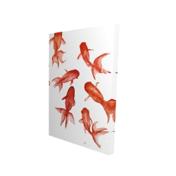 Canvas 24 x 36 - 3D - Red fishes